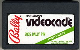 Cartridge artwork for Bally Pin on the Bally Astrocade.