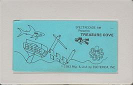 Cartridge artwork for Treasure Cove on the Bally Astrocade.