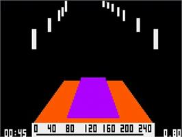 In game image of 280zzap on the Bally Astrocade.