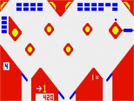In game image of Bally Pin on the Bally Astrocade.
