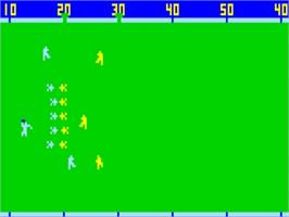 In game image of Football on the Bally Astrocade.