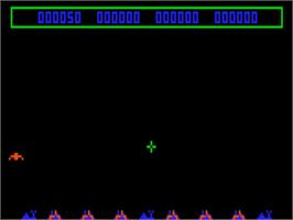 In game image of I.C.B.M. Attack on the Bally Astrocade.