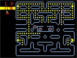 In game image of Muncher on the Bally Astrocade.