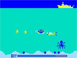 In game image of Treasure Cove on the Bally Astrocade.