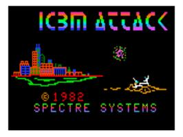 Title screen of I.C.B.M. Attack on the Bally Astrocade.