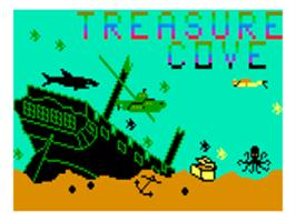 Title screen of Treasure Cove on the Bally Astrocade.