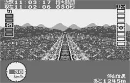 In game image of Densha de Go! on the Bandai WonderSwan.