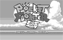 Title screen of Pocket Fighter on the Bandai WonderSwan.