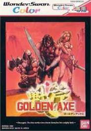 Box cover for Golden Axe on the Bandai WonderSwan Color.