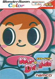Box cover for Mr Driller on the Bandai WonderSwan Color.