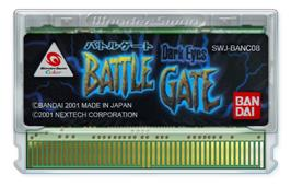 Cartridge artwork for Dark Eyes: Battle Gate on the Bandai WonderSwan Color.