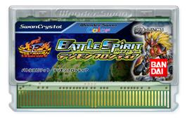 Cartridge artwork for Digimon Frontier: Battle Spirit on the Bandai WonderSwan Color.