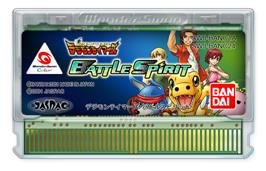 Cartridge artwork for Digimon Tamers: Battle Spirit on the Bandai WonderSwan Color.
