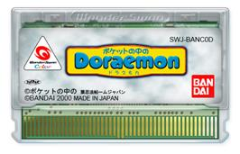 Cartridge artwork for Doraemon in Your Pocket on the Bandai WonderSwan Color.