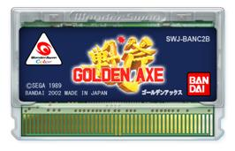 Cartridge artwork for Golden Axe on the Bandai WonderSwan Color.