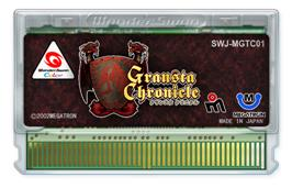 Cartridge artwork for Gransta Chronicle on the Bandai WonderSwan Color.