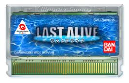 Cartridge artwork for Last Alive on the Bandai WonderSwan Color.