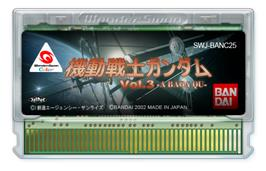 Cartridge artwork for Mobile Suit Gundam: Vol. 3: A Baoa Qu on the Bandai WonderSwan Color.
