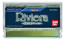 Cartridge artwork for Riviera: The Promised Land on the Bandai WonderSwan Color.