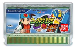 Cartridge artwork for Rockman EXE WS on the Bandai WonderSwan Color.