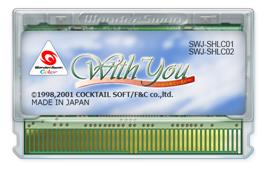 Cartridge artwork for With You: Mitsumete Itai on the Bandai WonderSwan Color.