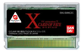 Cartridge artwork for X: Card of Fate on the Bandai WonderSwan Color.