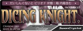 Top of cartridge artwork for Dicing Knight Period on the Bandai WonderSwan Color.
