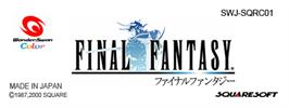 Top of cartridge artwork for Final Fantasy on the Bandai WonderSwan Color.
