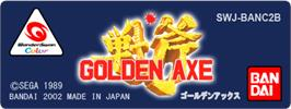Top of cartridge artwork for Golden Axe on the Bandai WonderSwan Color.