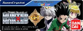 Top of cartridge artwork for Hunter X Hunter: Greed Island on the Bandai WonderSwan Color.