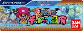 Top of cartridge artwork for One Piece: Chopper's Adventure on the Bandai WonderSwan Color.