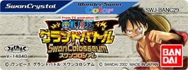 Top of cartridge artwork for One Piece: Grand Battle Swan Colosseum on the Bandai WonderSwan Color.
