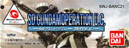 Top of cartridge artwork for SD Gundam: Operation U.C. on the Bandai WonderSwan Color.