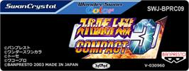 Top of cartridge artwork for Super Robot Wars Compact 3 on the Bandai WonderSwan Color.