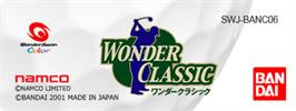 Top of cartridge artwork for Wonder Classic on the Bandai WonderSwan Color.