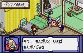 In game image of Digimon Adventure 02: D1 Tamers on the Bandai WonderSwan Color.