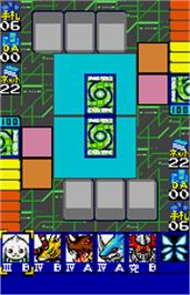 In game image of Digimon Card Game: Ver. WonderSwan Color on the Bandai WonderSwan Color.
