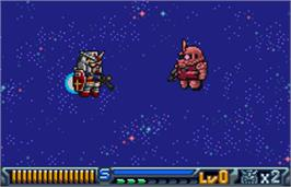 In game image of SD Gundam: Operation U.C. on the Bandai WonderSwan Color.