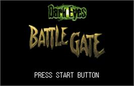 Title screen of Dark Eyes: Battle Gate on the Bandai WonderSwan Color.