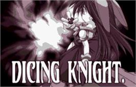 Title screen of Dicing Knight Period on the Bandai WonderSwan Color.