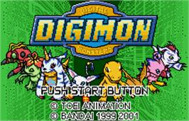 Title screen of Digimon Anode & Cathode Tamer on the Bandai WonderSwan Color.