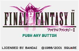 Title screen of Final Fantasy II on the Bandai WonderSwan Color.