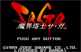 Title screen of Final Fantasy Legend on the Bandai WonderSwan Color.
