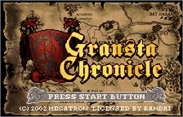 Title screen of Gransta Chronicle on the Bandai WonderSwan Color.