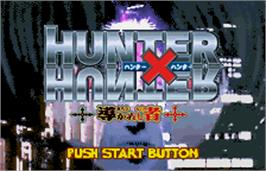 Title screen of Hunter X Hunter: Michibi Kareshi Mono on the Bandai WonderSwan Color.