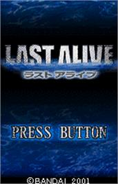 Title screen of Last Alive on the Bandai WonderSwan Color.