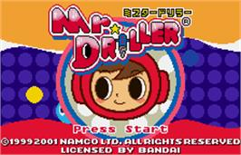 Title screen of Mr Driller on the Bandai WonderSwan Color.