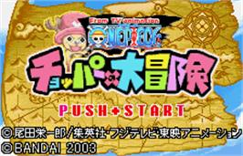 Title screen of One Piece: Chopper's Adventure on the Bandai WonderSwan Color.