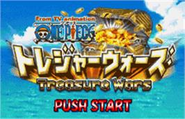 Title screen of One Piece: Treasure Wars on the Bandai WonderSwan Color.