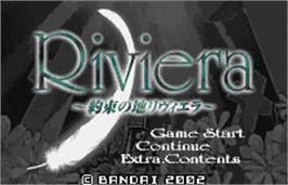 Title screen of Riviera: The Promised Land on the Bandai WonderSwan Color.